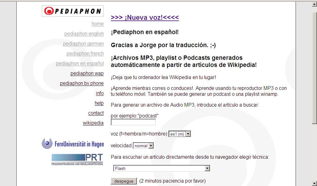 Pediaphon spanisch