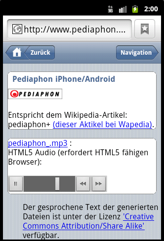 Screenshot 4 Pediaphon iWebkit auf Android